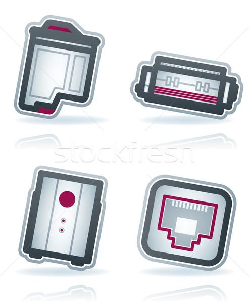 Computer onderdelen hier inkjet Stockfoto © Vectorminator