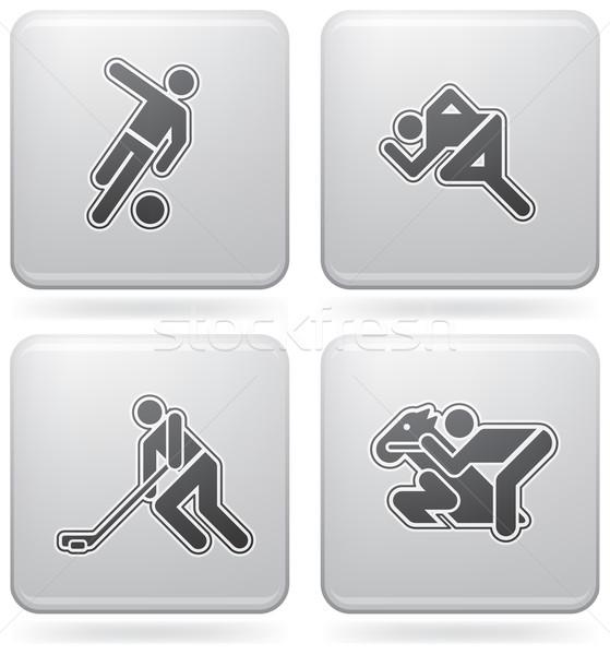 Sports figures Stock photo © Vectorminator
