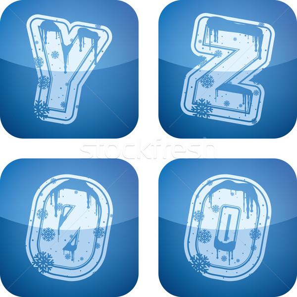 Inverno dígitos cartas natal estilo Foto stock © Vectorminator