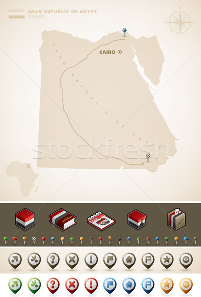 арабских республика Египет Африка карт Сток-фото © Vectorminator