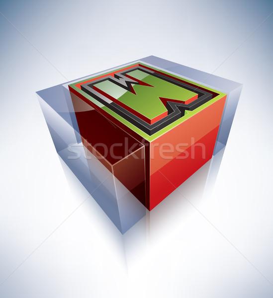 3D alfabet hoofdletter transparant Ice Cube zoals Stockfoto © Vectorminator