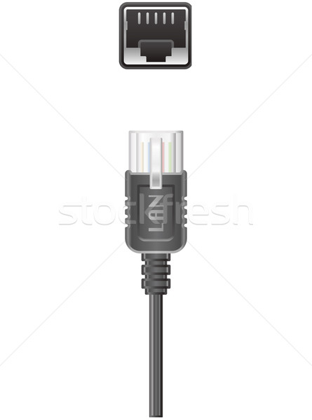 Computer LAN cable Stock photo © Vectorminator