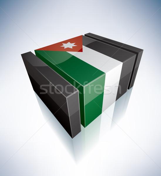 3D flag of Jordan Stock photo © Vectorminator