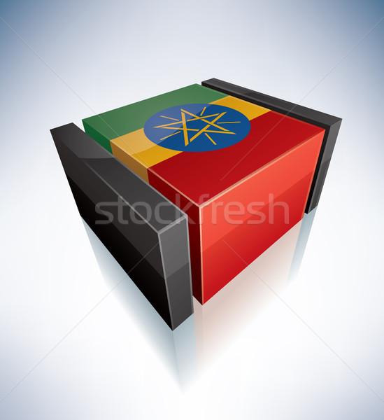 3D флаг Эфиопия Африка федеральный демократический Сток-фото © Vectorminator