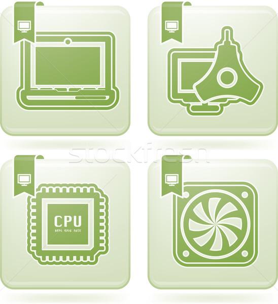Bilgisayar burada doğru dizüstü bilgisayar Stok fotoğraf © Vectorminator