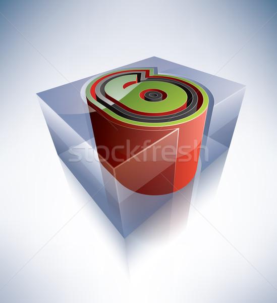 3D Alphabet digit transparent Ice Cube wie Stock foto © Vectorminator