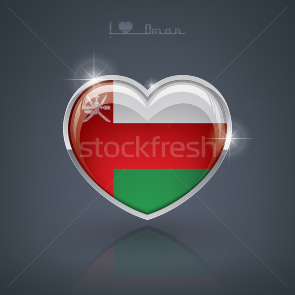 Оман формы сердца флагами сердце Сток-фото © Vectorminator