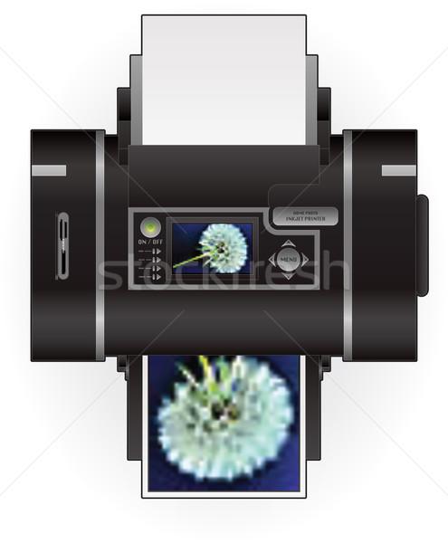 Inkjet impressora casa cor foto topo Foto stock © Vectorminator