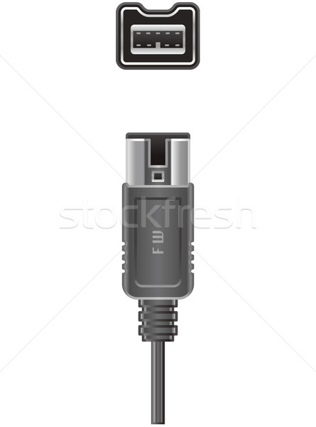 Stock photo: Computer FW cable