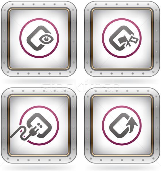 Software de computador ferragens ícones computador software Foto stock © Vectorminator