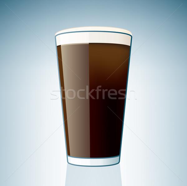 Dark Beer Glass Stock photo © Vectorminator