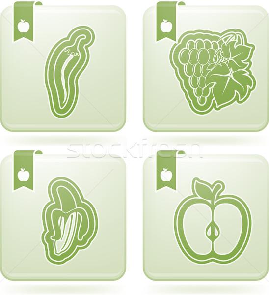 Foto stock: Comida · vegetariana · alimentos · saludables · frutas · hortalizas