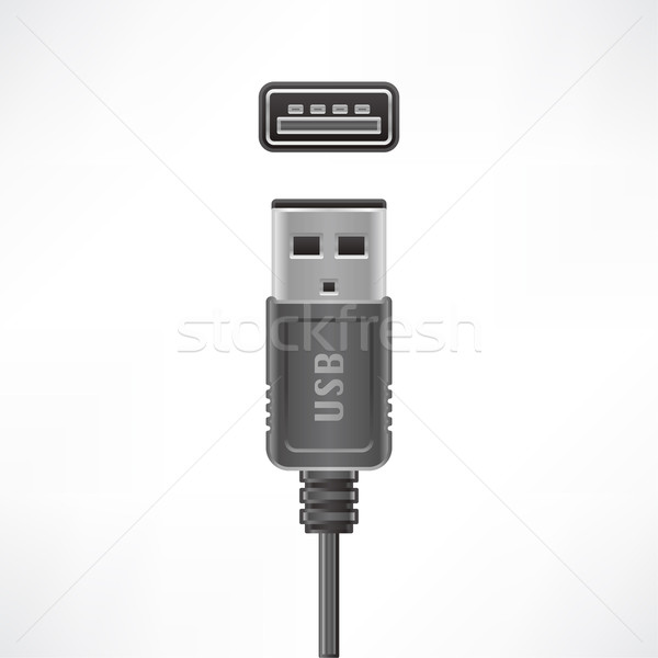 USB type A Stock photo © Vectorminator