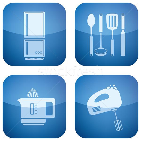 Сток-фото: кухне · повседневный · инструменты · кобальт · квадратный