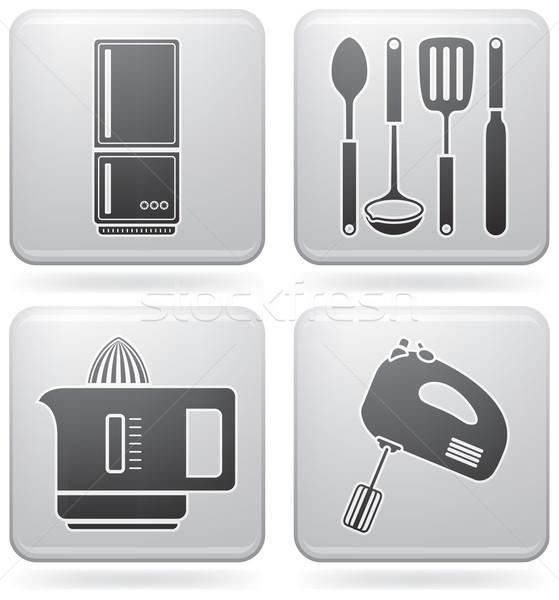 Сток-фото: кухне · повседневный · инструменты · фламинго · квадратный