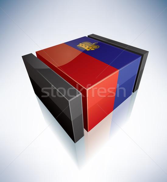 3D flag of Liechtenstein Stock photo © Vectorminator