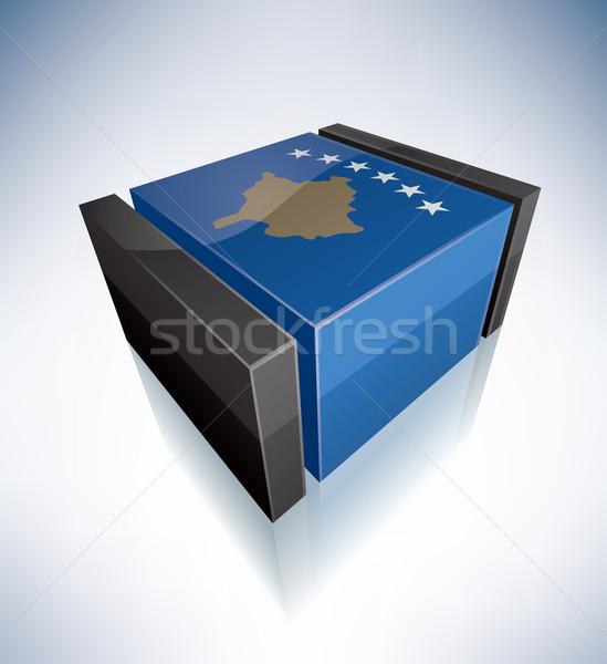3D bandeira Kosovo bandeiras europa república Foto stock © Vectorminator