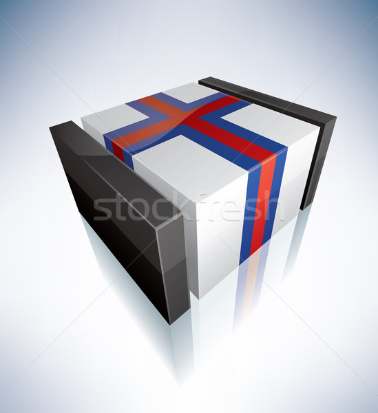 3D flag of Faroe Islands Stock photo © Vectorminator