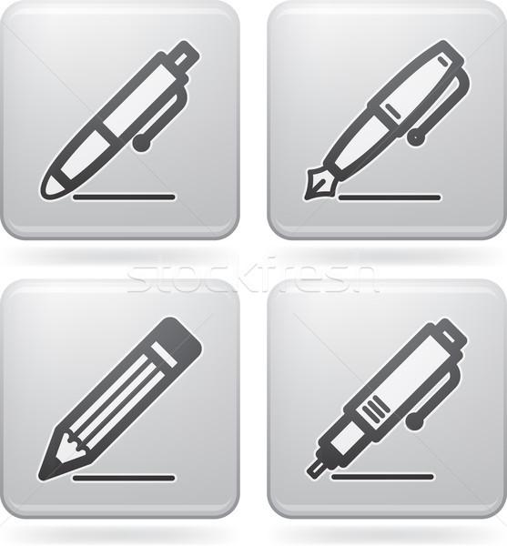 Ofis tedarik nesneler kalem kalem Stok fotoğraf © Vectorminator