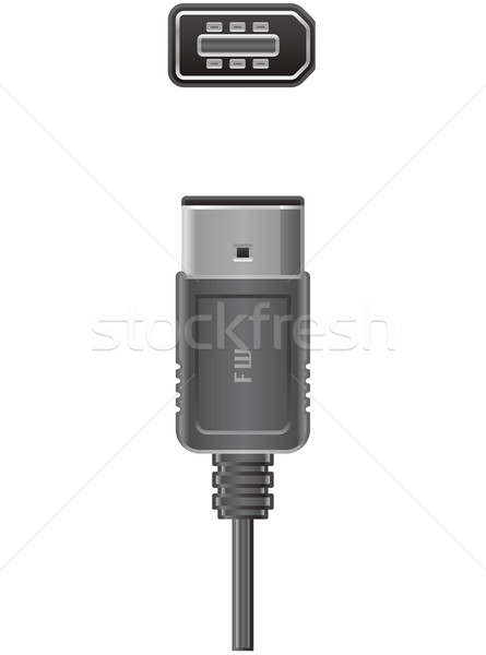 Bilgisayar kablo pin fiş soket donanım Stok fotoğraf © Vectorminator