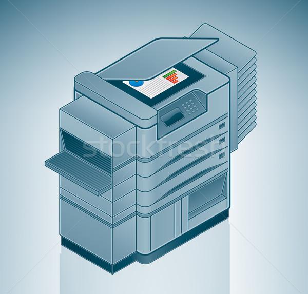 Large Photo Printer / Copier Stock photo © Vectorminator