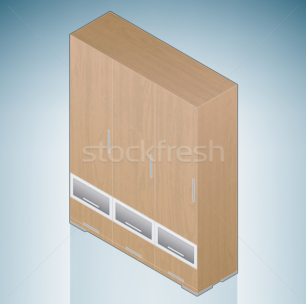 Furniture: Bedroom Cupboard with Drawers Stock photo © Vectorminator