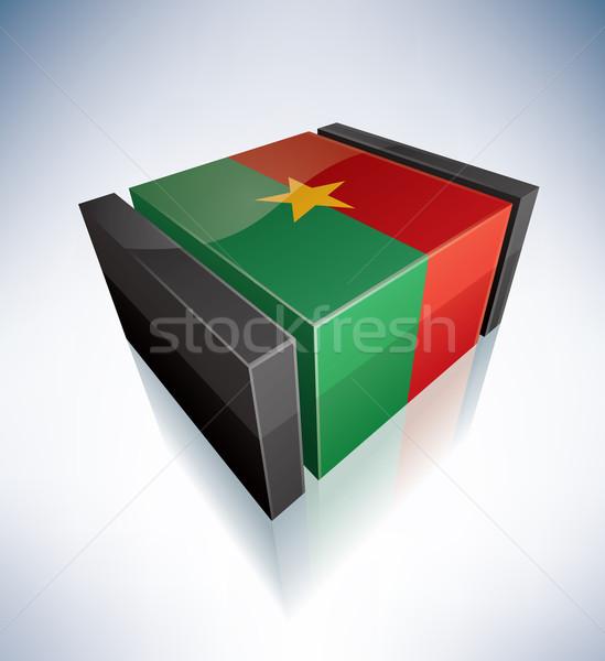 3D flag of Burkina Faso Stock photo © Vectorminator