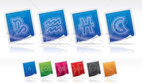 Astrology signs Stock photo © Vectorminator