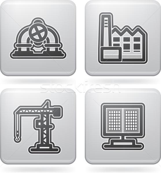 Zdjęcia stock: Przemysłu · ikona · ciężki · tutaj
