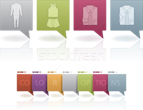 моде различный иконки право Top нижний Сток-фото © Vectorminator