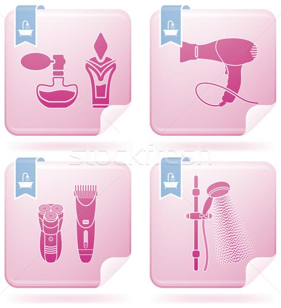 Fürdőkád fürdőszoba kellékek egyéb mindennapi dolgok Stock fotó © Vectorminator