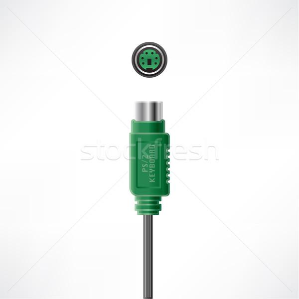 Kabel komputerowy wtyczkę klawiatury gniazdo komputera sprzętu Zdjęcia stock © Vectorminator