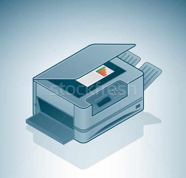 лазерного фото изометрический 3D компьютер аппаратных Сток-фото © Vectorminator