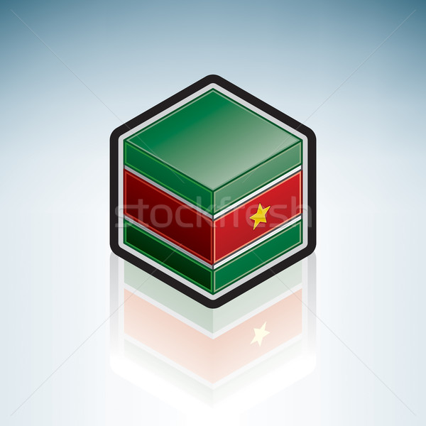 Suriname { South America } Stock photo © Vectorminator