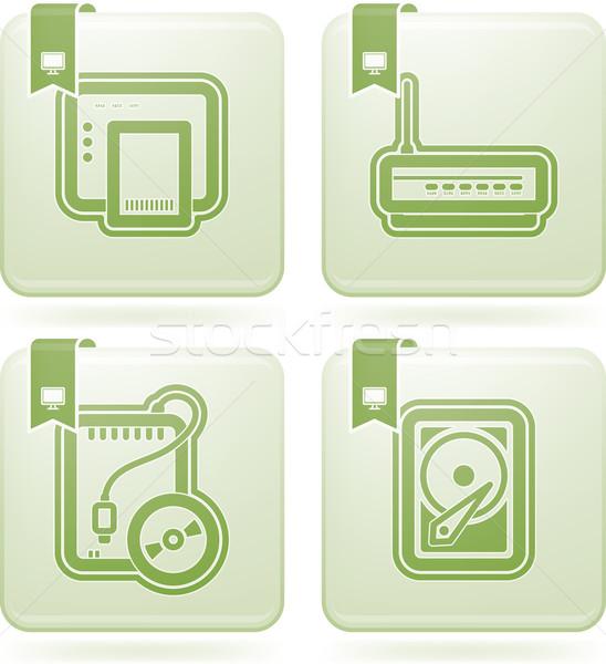 Computer accessori ecco modem Foto d'archivio © Vectorminator