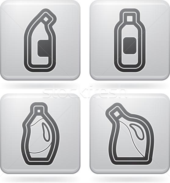 Limpieza otro herramientas lejía botella Foto stock © Vectorminator