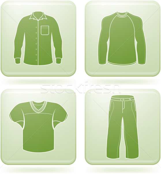 Cobalt Square 2D Icons Set: Man's Clothing Stock photo © Vectorminator