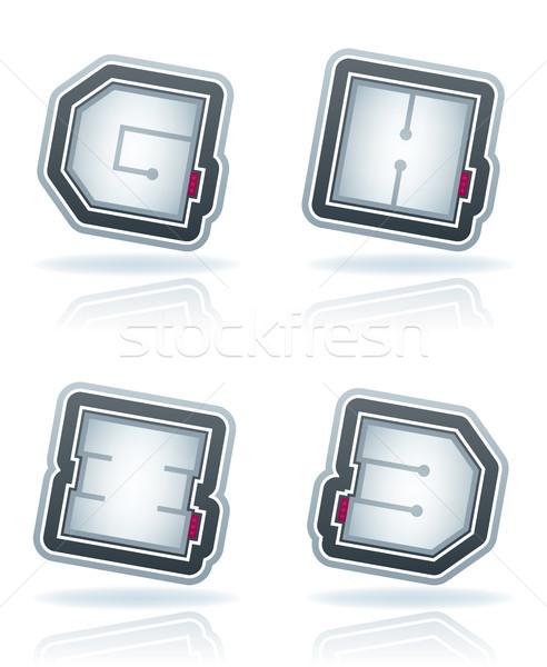 Capital letters Stock photo © Vectorminator