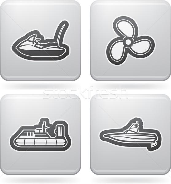 Gemi tekneler vektör simgeler diğer ilişki Stok fotoğraf © Vectorminator