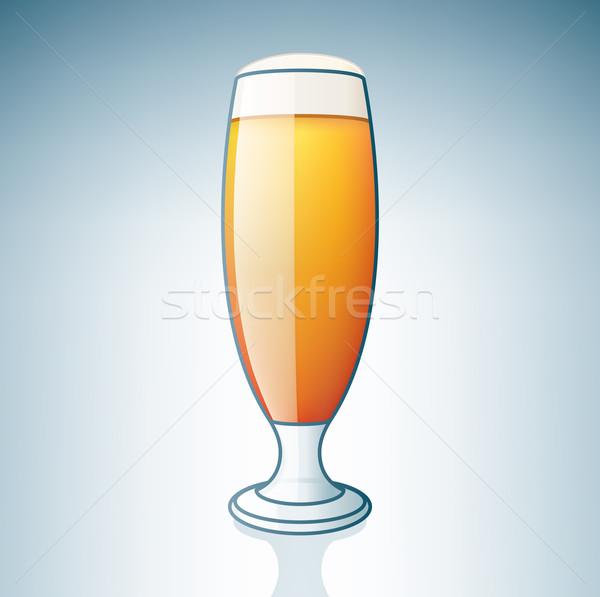 Világos sör üveg alkohol ikon szett ital gomb Stock fotó © Vectorminator