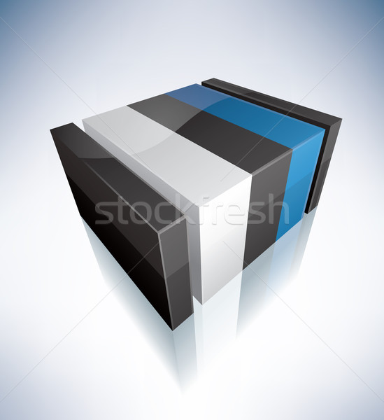 3D flag of Estonia Stock photo © Vectorminator