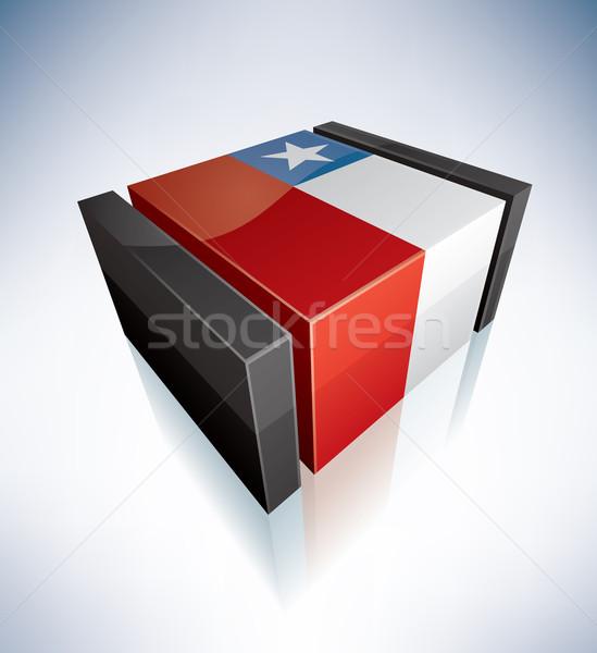 3D zászló Chile dél-amerika köztársaság zászlók Stock fotó © Vectorminator