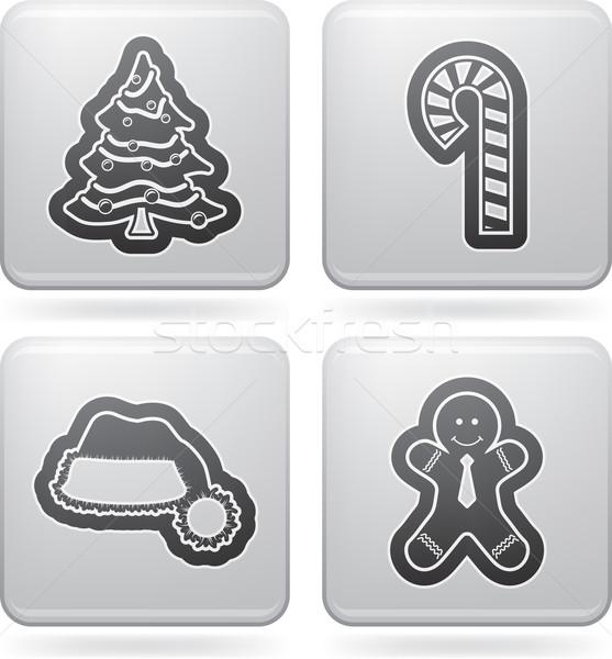 Natale tempo idea simboli icone ecco Foto d'archivio © Vectorminator