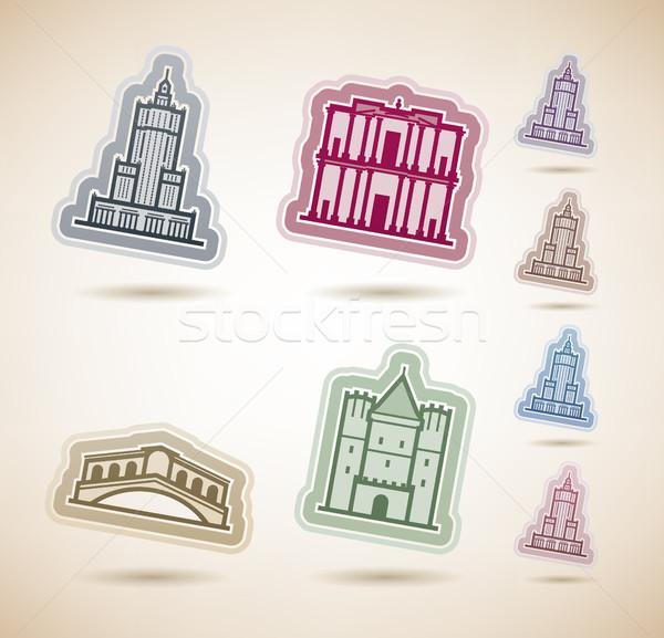 Мир известный архитектура вокруг здесь право Сток-фото © Vectorminator