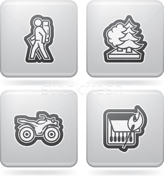 Outdoor attività icone relazioni estate ecco Foto d'archivio © Vectorminator