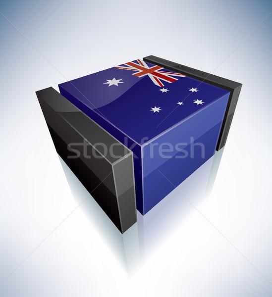 3D флаг Австралия Океания флагами Сток-фото © Vectorminator