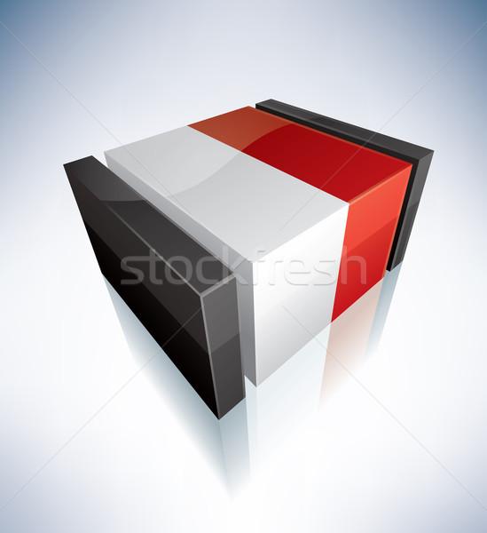 3D flag of Monaco Stock photo © Vectorminator