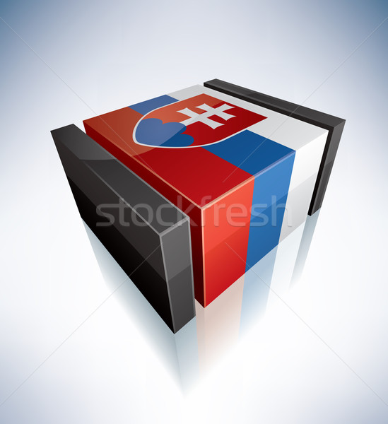 3D flag of Slovakia Stock photo © Vectorminator