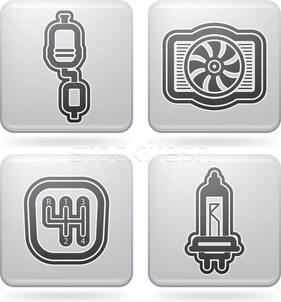 車 右 排気 ギア ストックフォト © Vectorminator