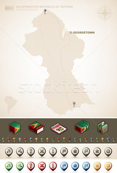 共和国 ガイアナ マップ プラス 余分な ストックフォト © Vectorminator
